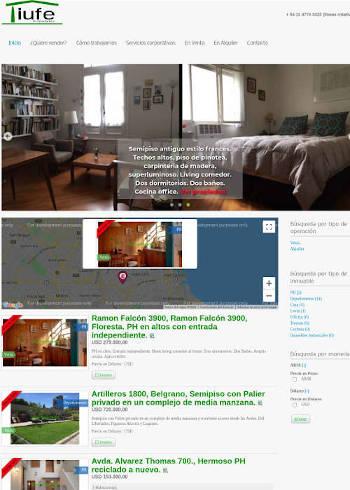 Creación sitio web inmobiliaria